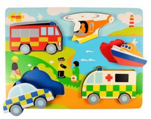Объемный пазл-вкладыш Транспорт спасателей