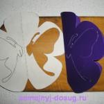 Вырезание открытки по шаблону