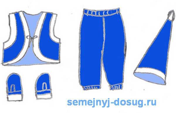 Детали костюма гномика