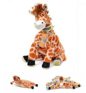 Мягкая игрушка-подушка-плед Жираф Джафару