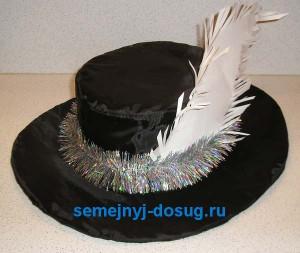 Шляпа мушкетёра из картона