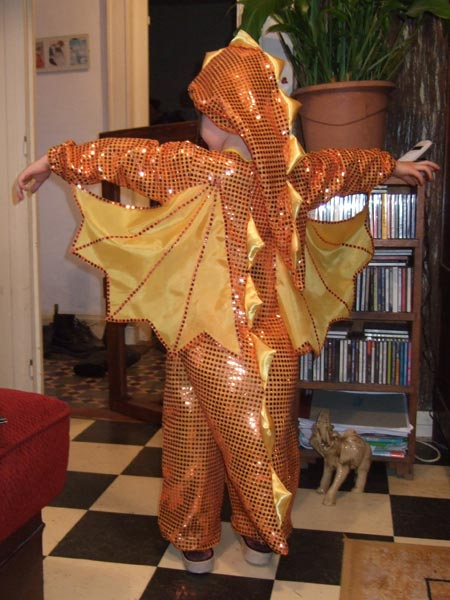 Новогодний костюм дракона своими руками-5