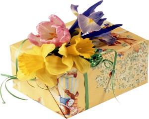 Оформление подарков живыми цветами