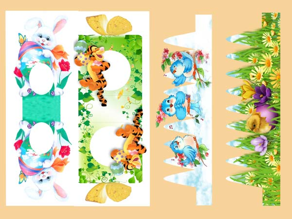бумажные зайцы-коробочки