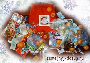 Новогодние мешки для подарков своими руками