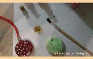 Новогодние украшения на ёлку из соленого теста